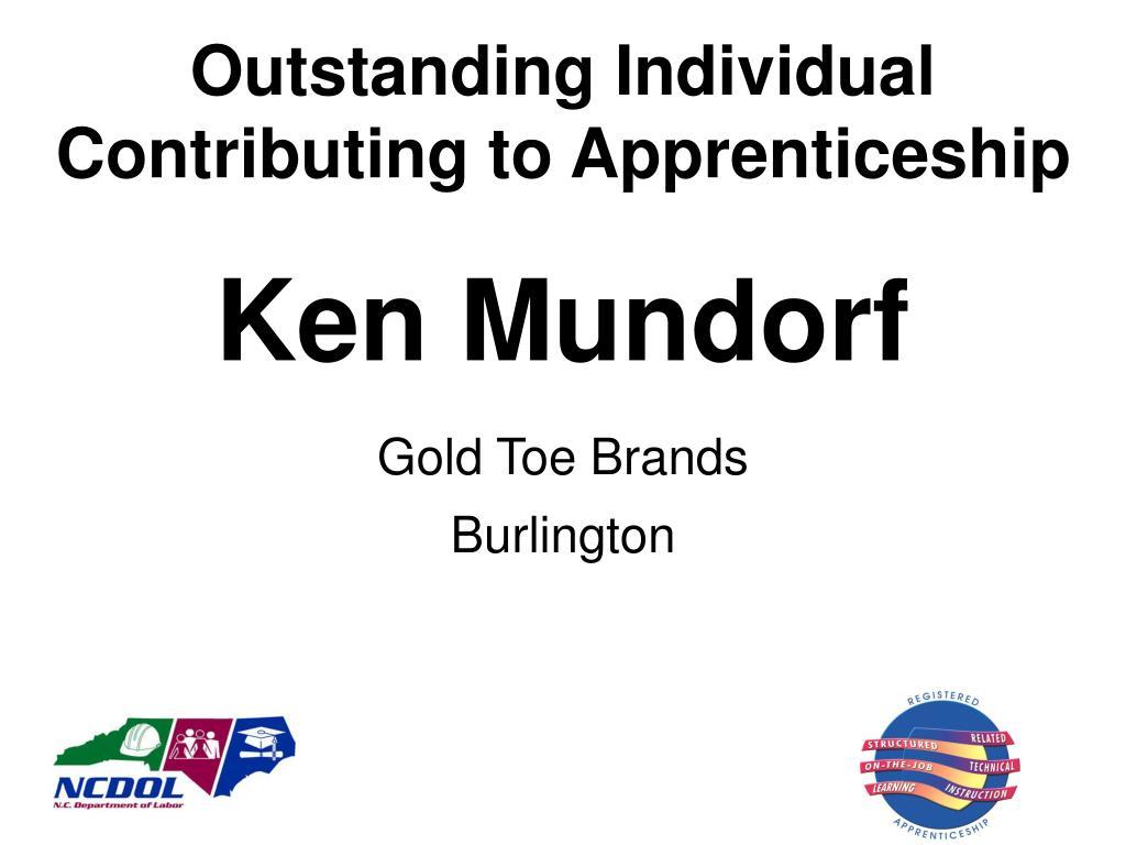 Outstanding Individual