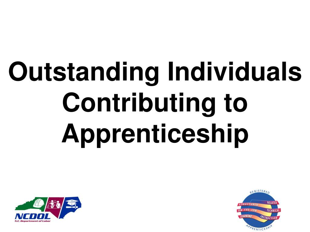 Outstanding Individuals Contributing to Apprenticeship