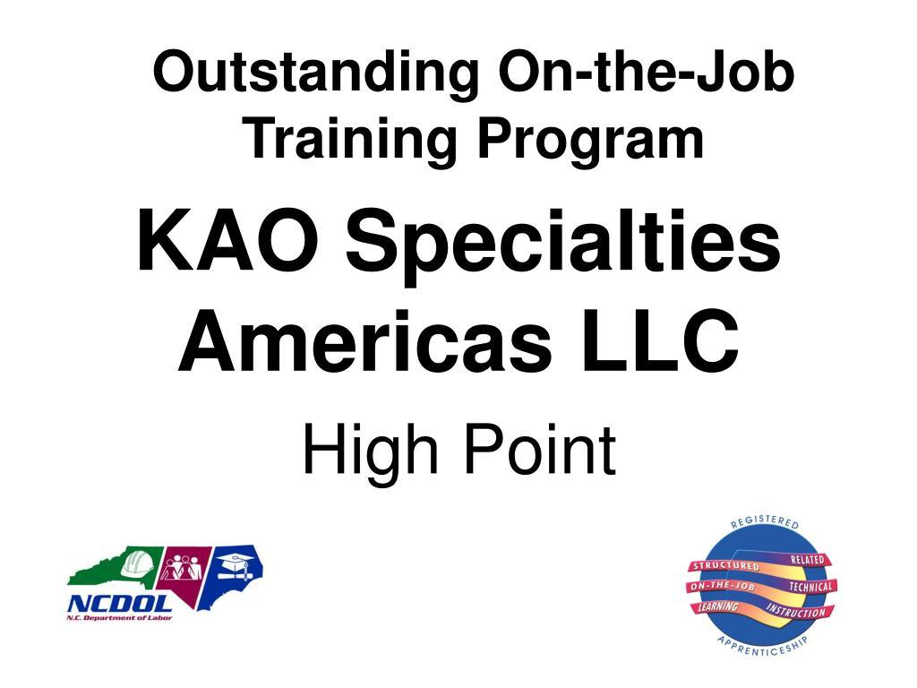 Outstanding On-the-Job Training Program