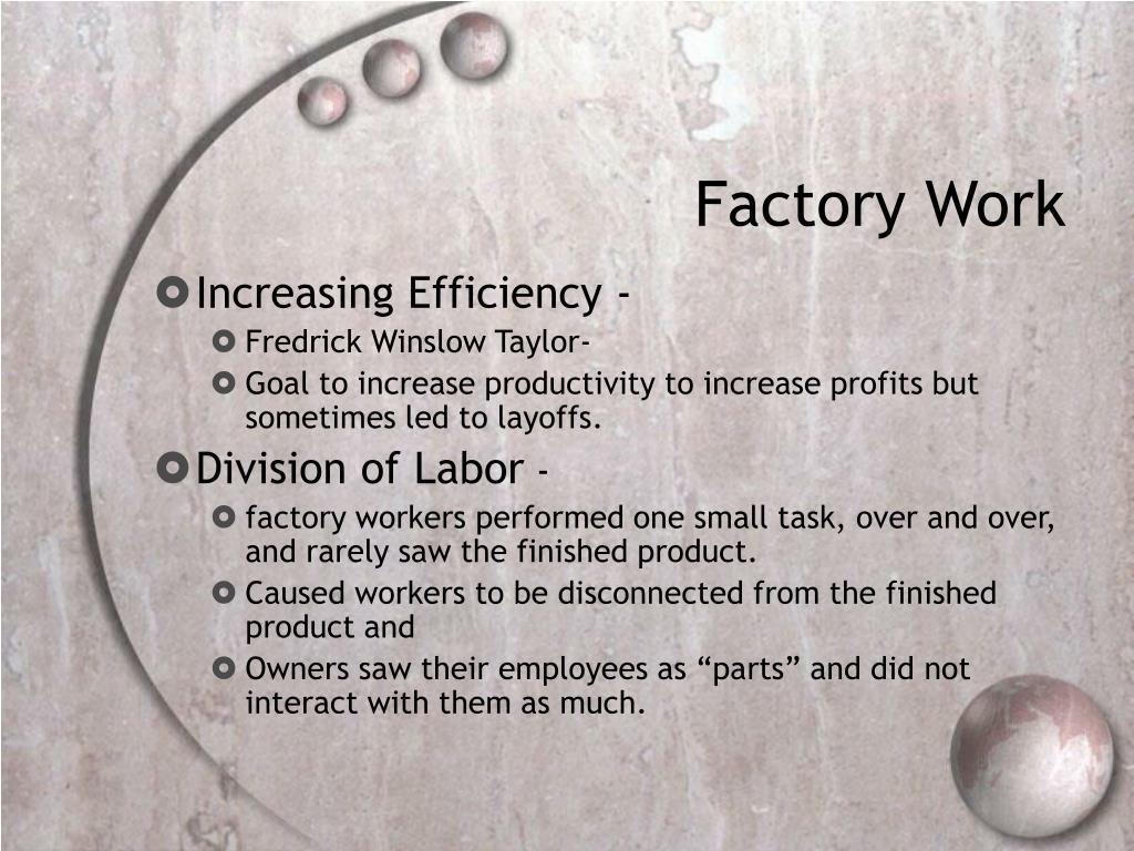 Factory Work