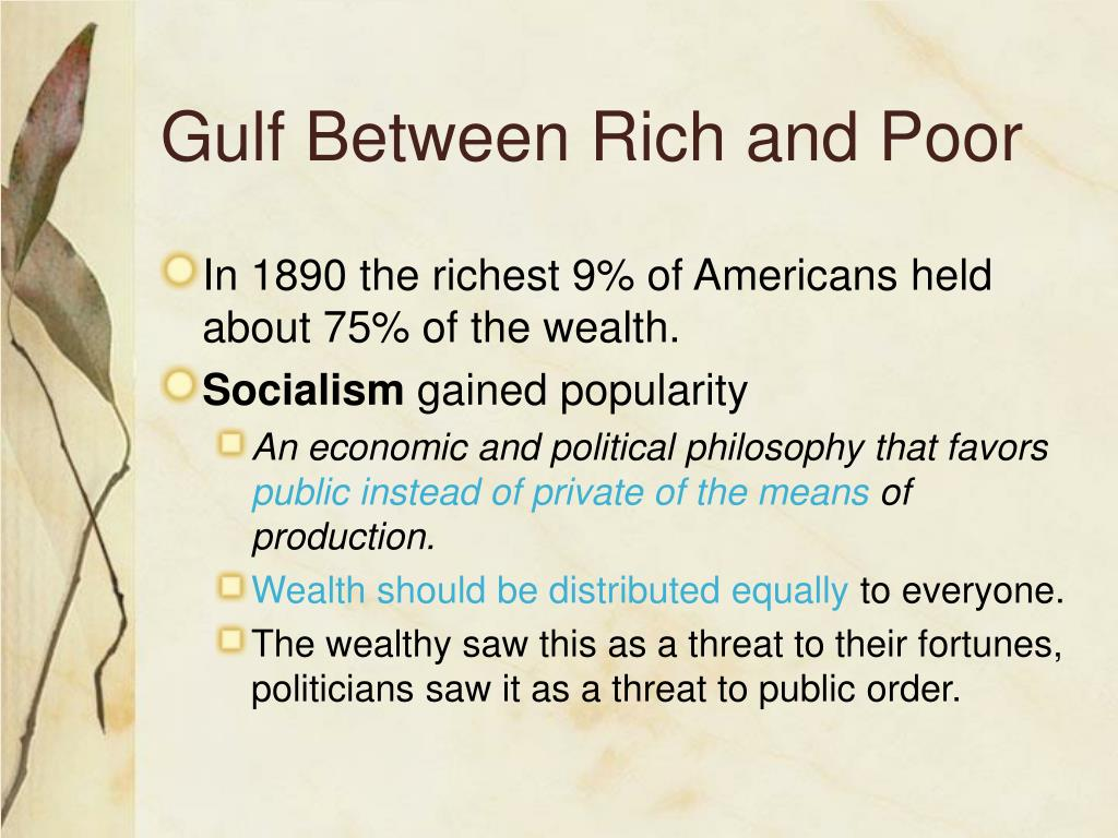 Gulf Between Rich and Poor