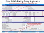 fleet ride rating entry application11