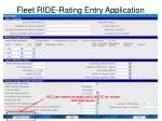fleet ride rating entry application15