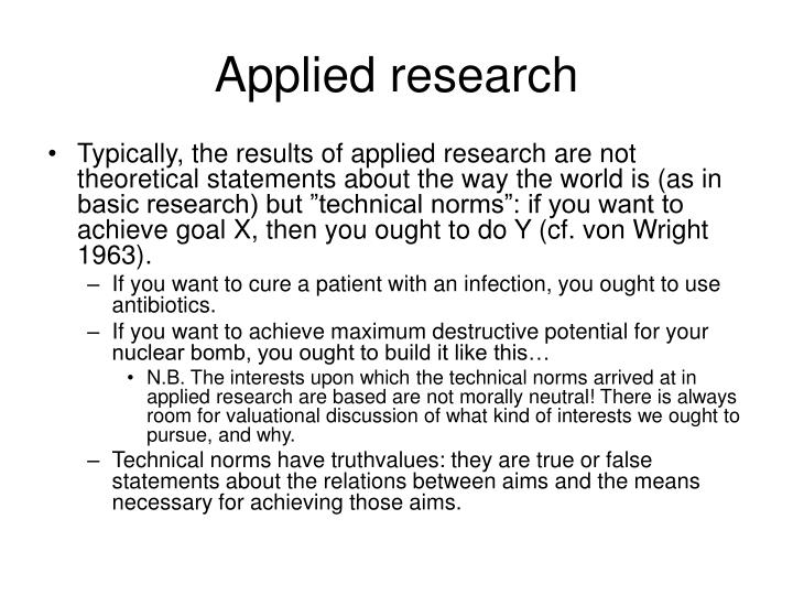 Applied research