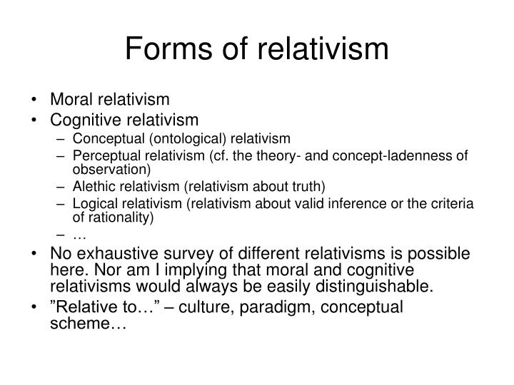 Forms of relativism