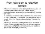 from naturalism to relativism cont d1