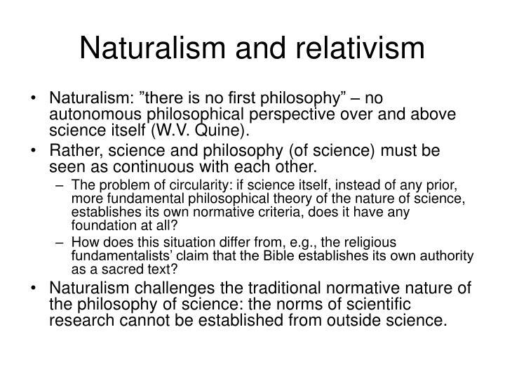 Naturalism and relativism