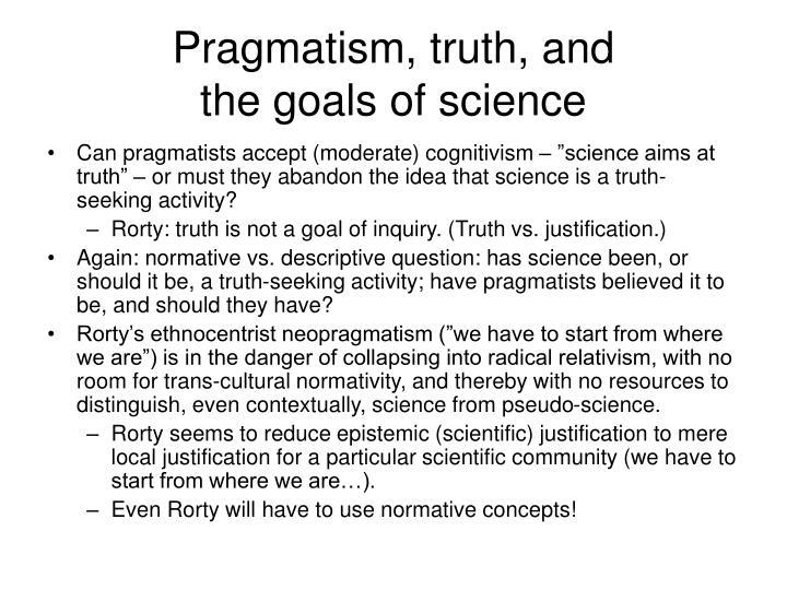 Pragmatism, truth, and