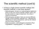 the scientific method cont d