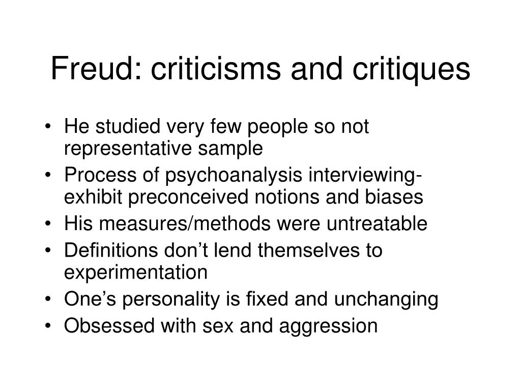 Freud: criticisms and critiques