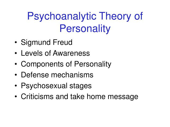 Psychoanalytic theory of personality l.jpg