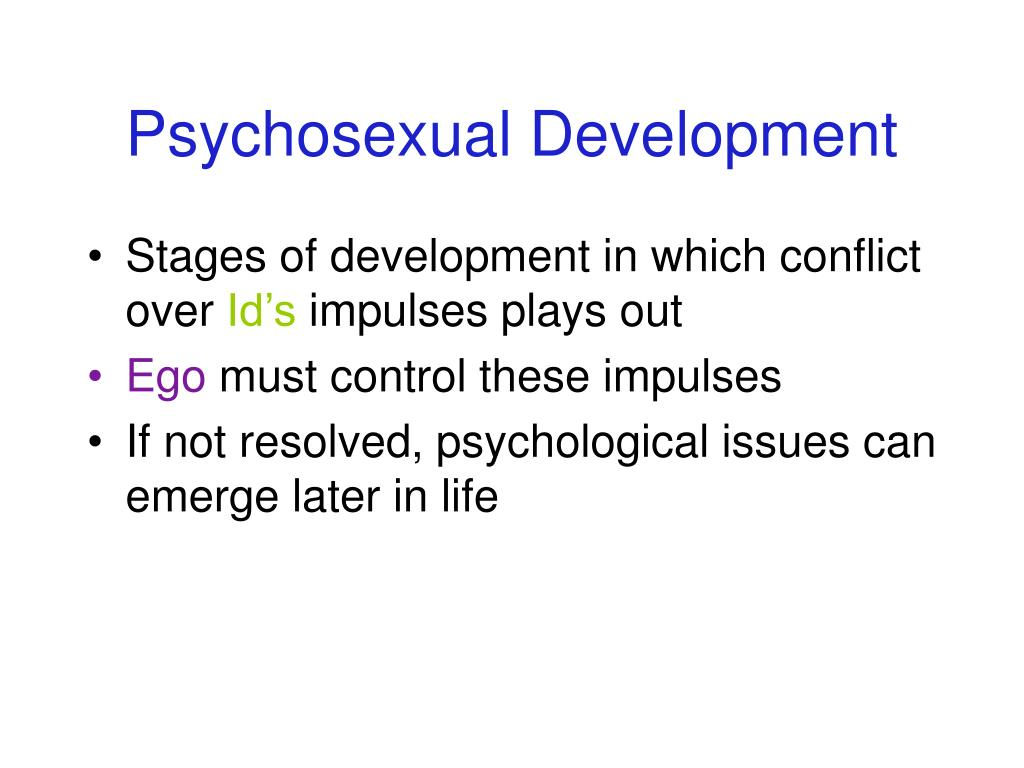 Psychosexual Development