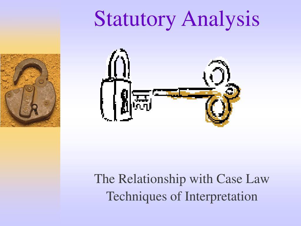 Statutory Analysis