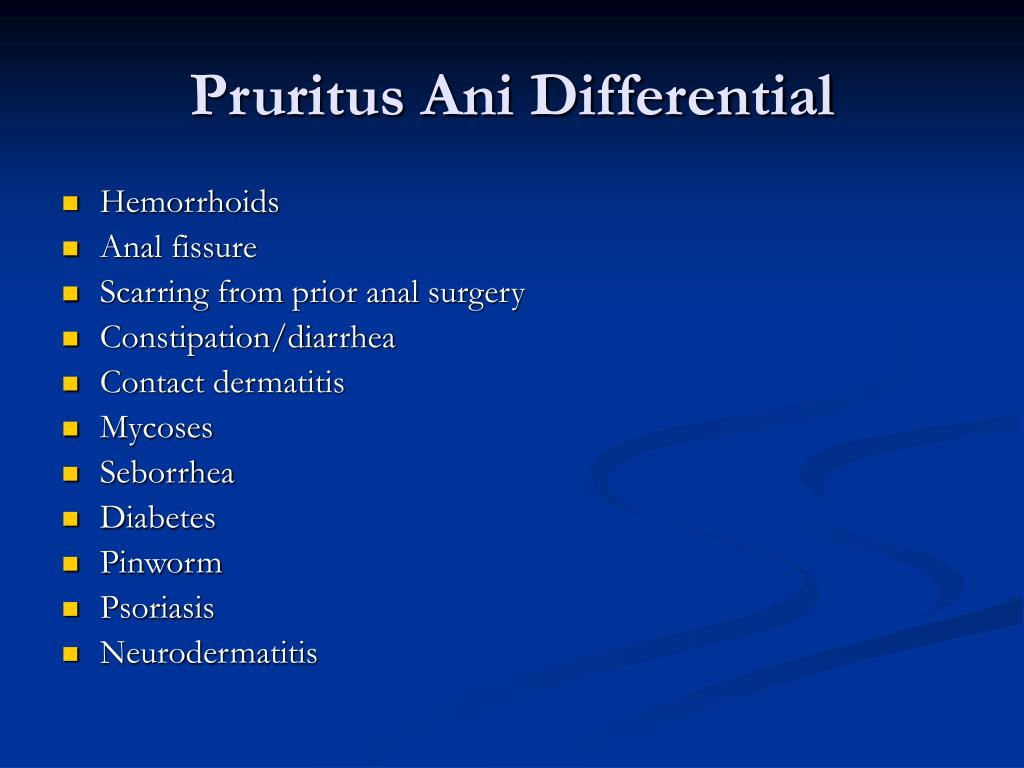 Pruritus Ani Differential