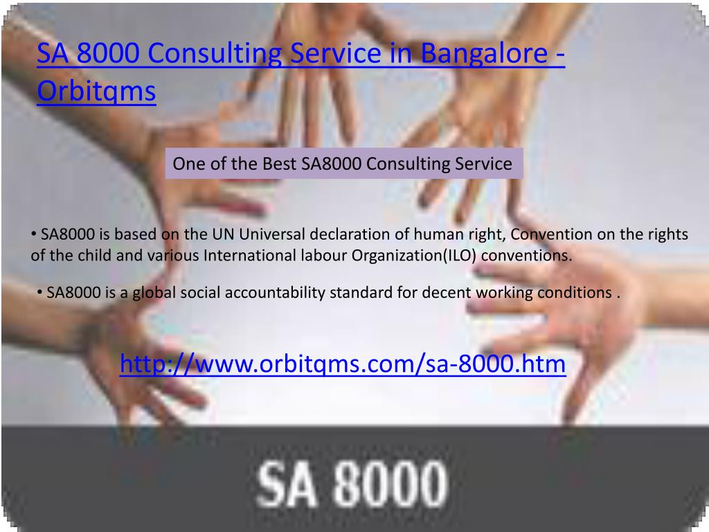 SA 8000 Consulting Service in Bangalore - Orbitqms