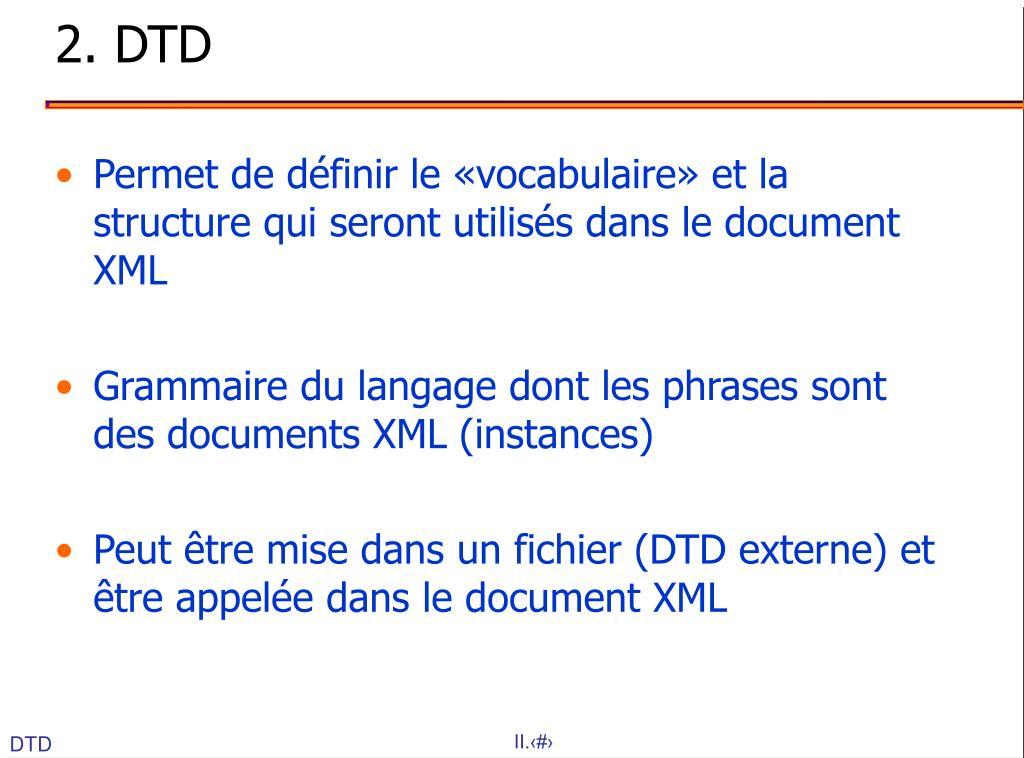 2. DTD