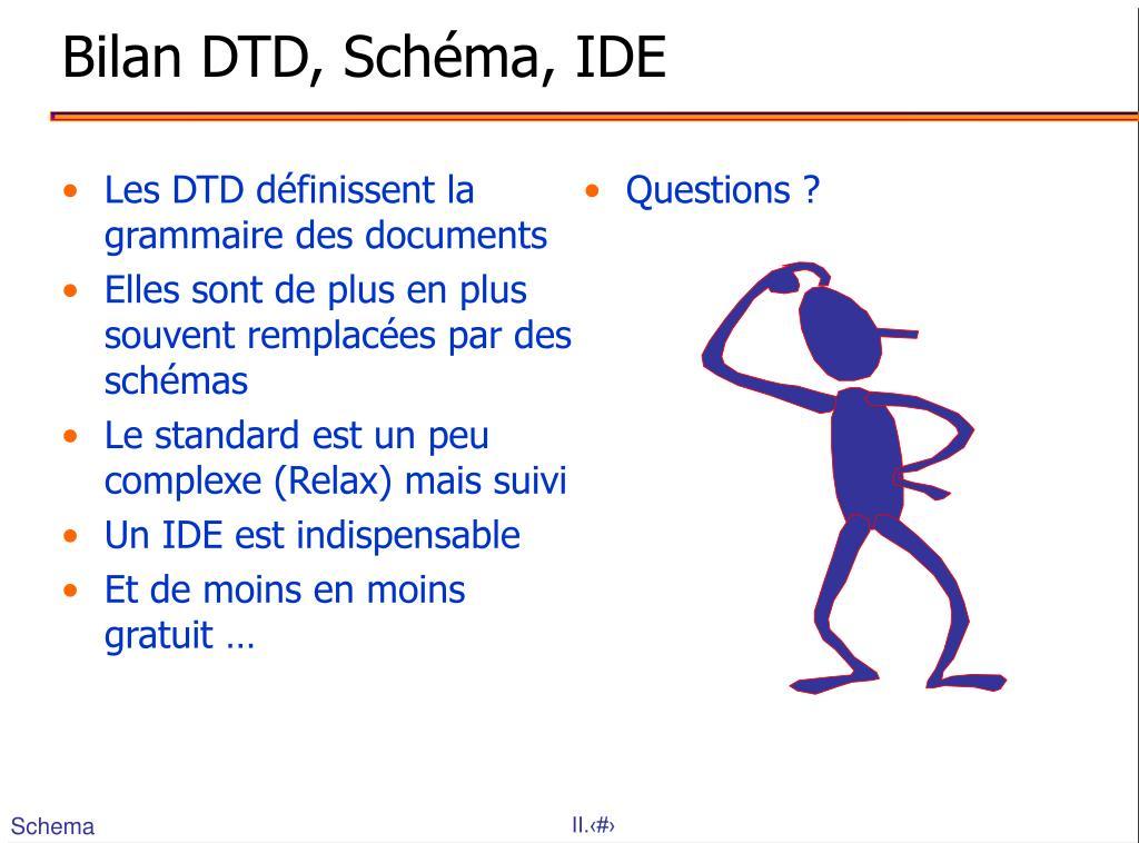 Les DTD définissent la grammaire des documents