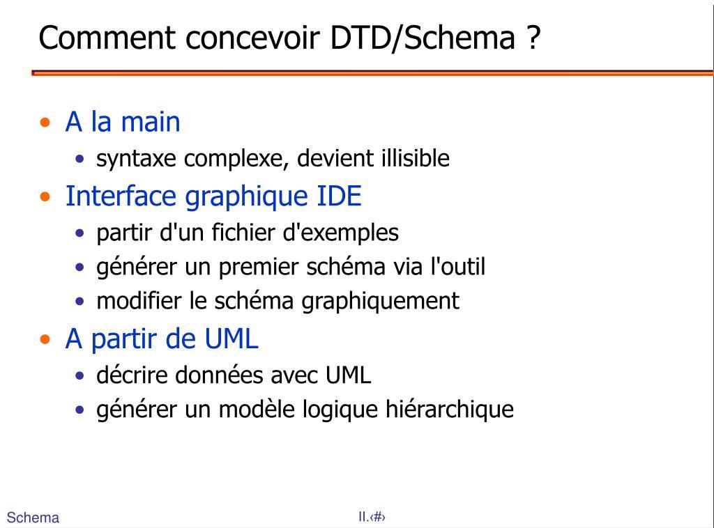 Comment concevoir DTD/Schema ?