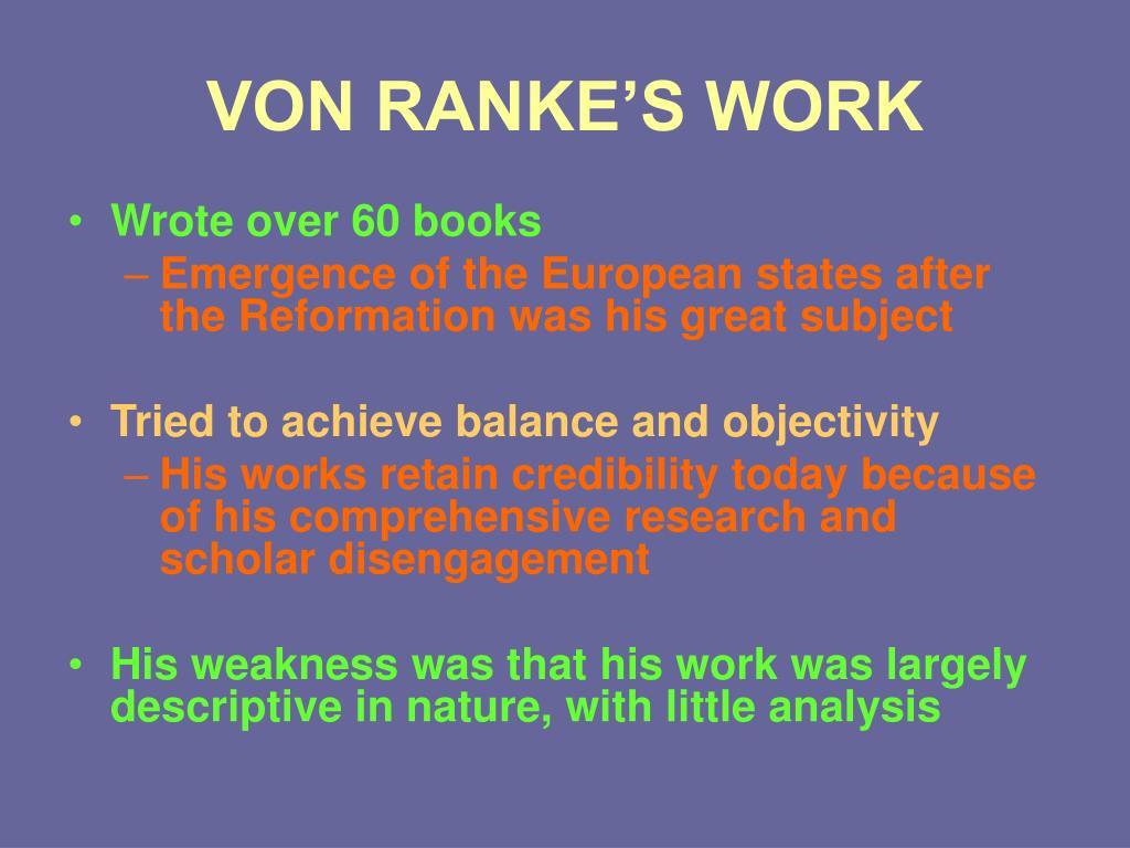 VON RANKE'S WORK