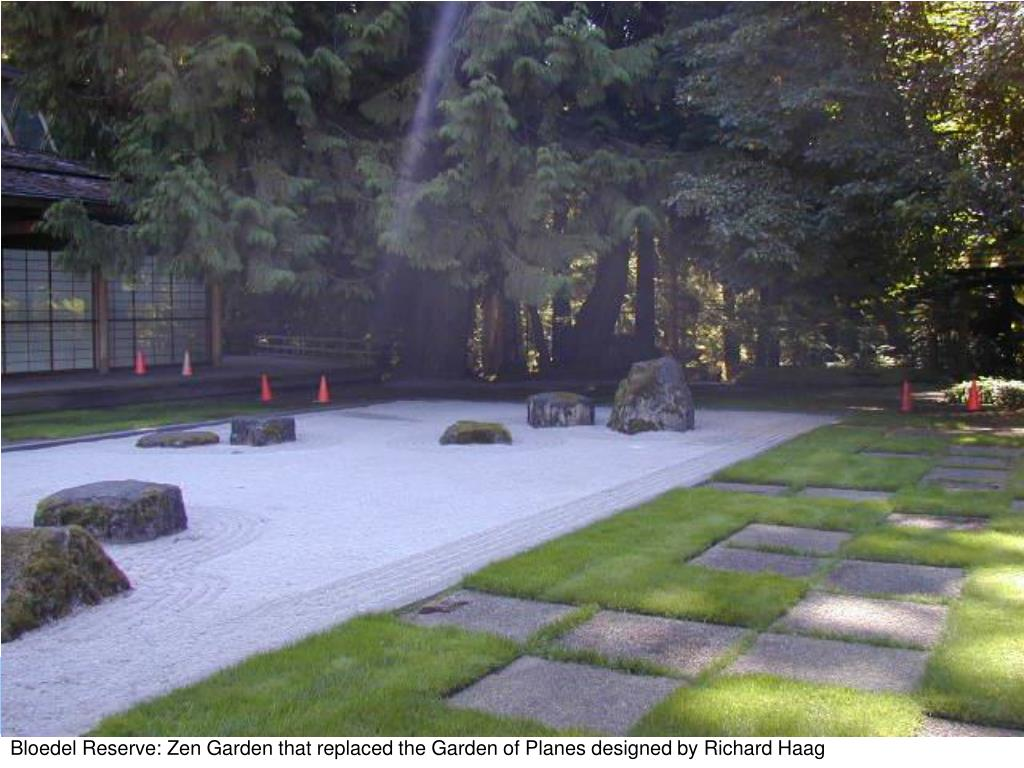 Bloedel Reserve: Zen Garden that replaced the Garden of Planes designed by Richard Haag