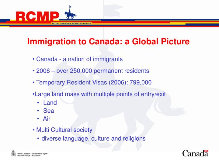 Immigration to canada a global picture