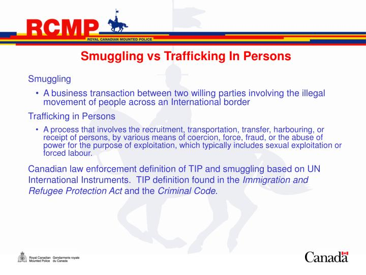Smuggling vs Trafficking In Persons