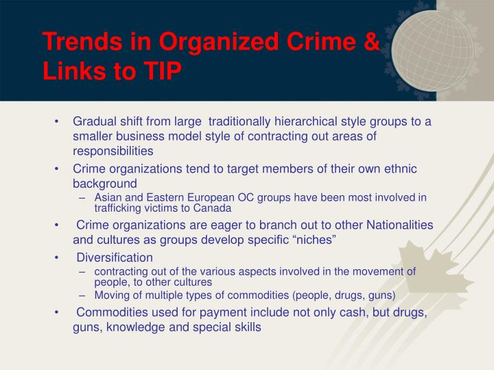 Trends in Organized Crime & Links to TIP