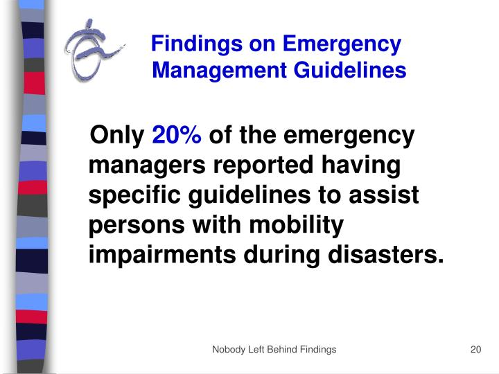 Findings on Emergency