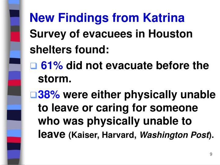 New Findings from Katrina