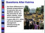 questions after katrina