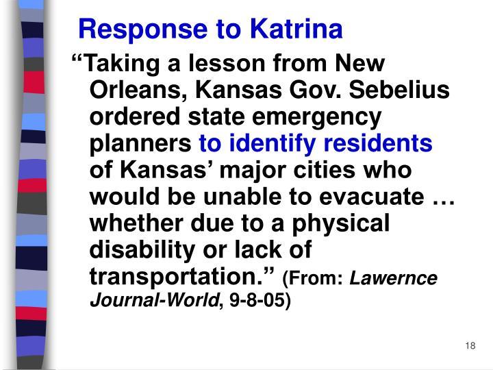 Response to Katrina