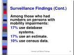 surveillance findings cont