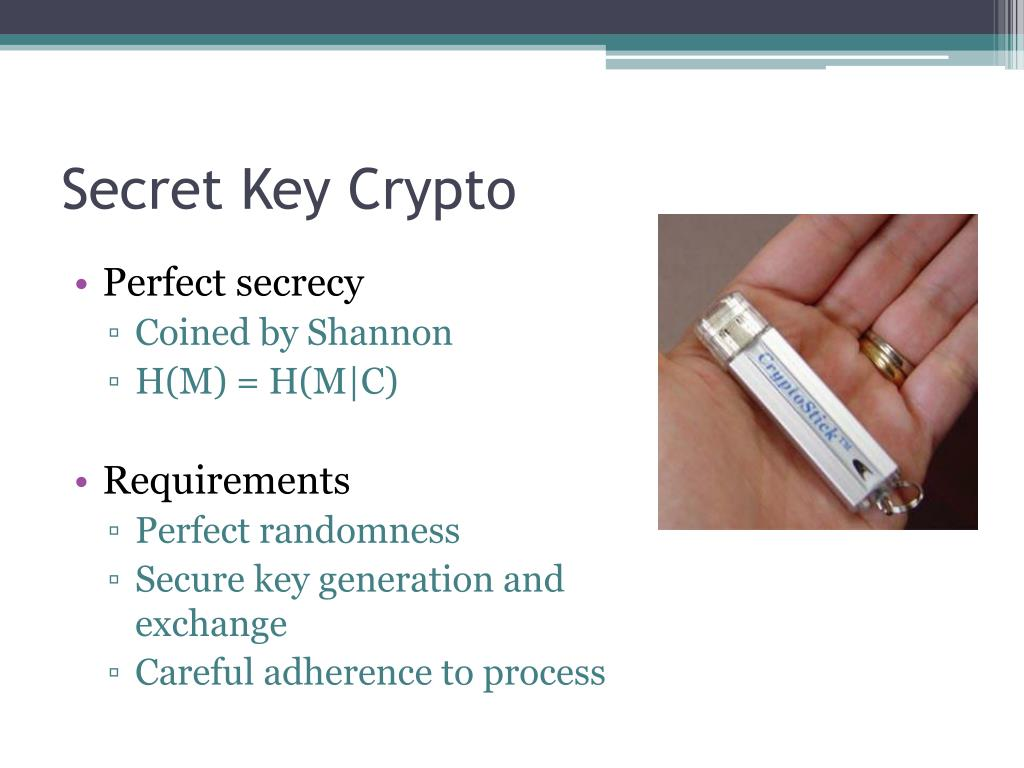 Secret Key Crypto