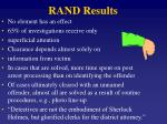 rand results