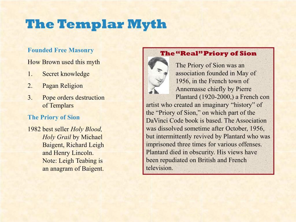 The Templar Myth