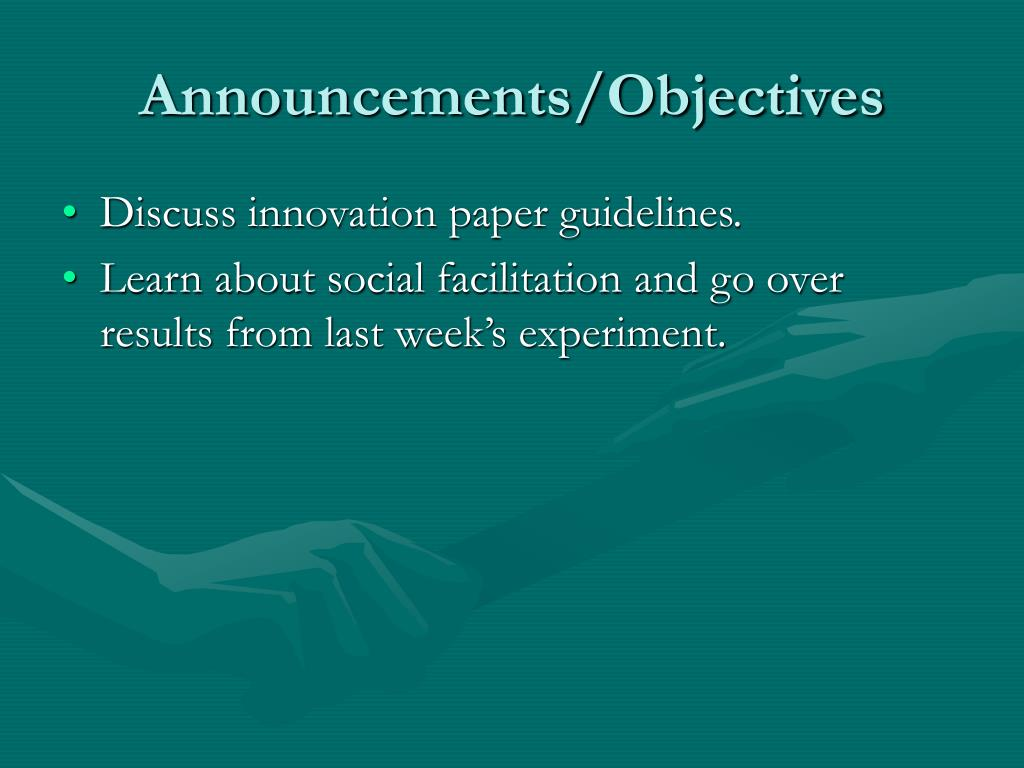 Announcements/Objectives