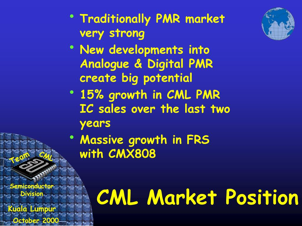 Traditionally PMR market very strong
