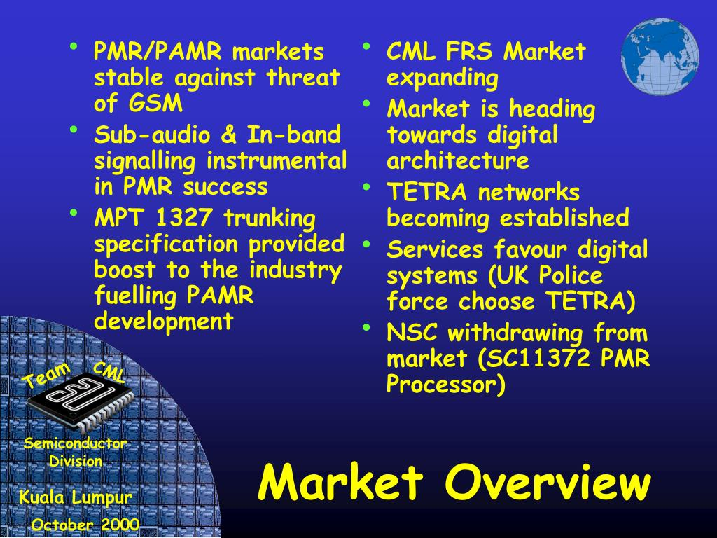 PMR/PAMR markets stable against threat of GSM