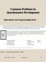 common problems in questionnaire development4