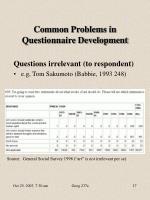 common problems in questionnaire development5