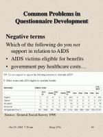 common problems in questionnaire development6