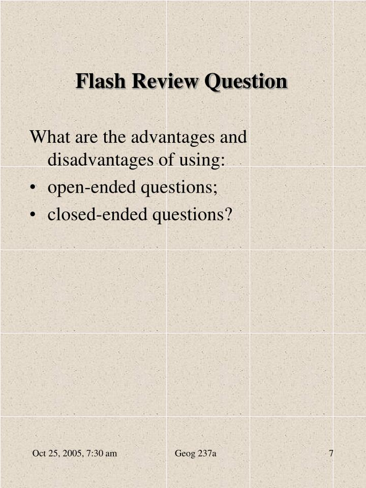 Flash Review Question