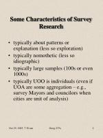 some characteristics of survey research