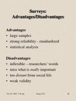 surveys advantages disadvantages