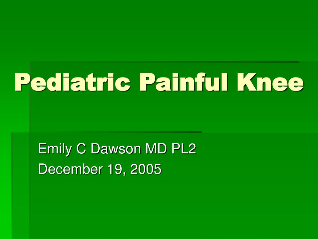 pediatric painful knee