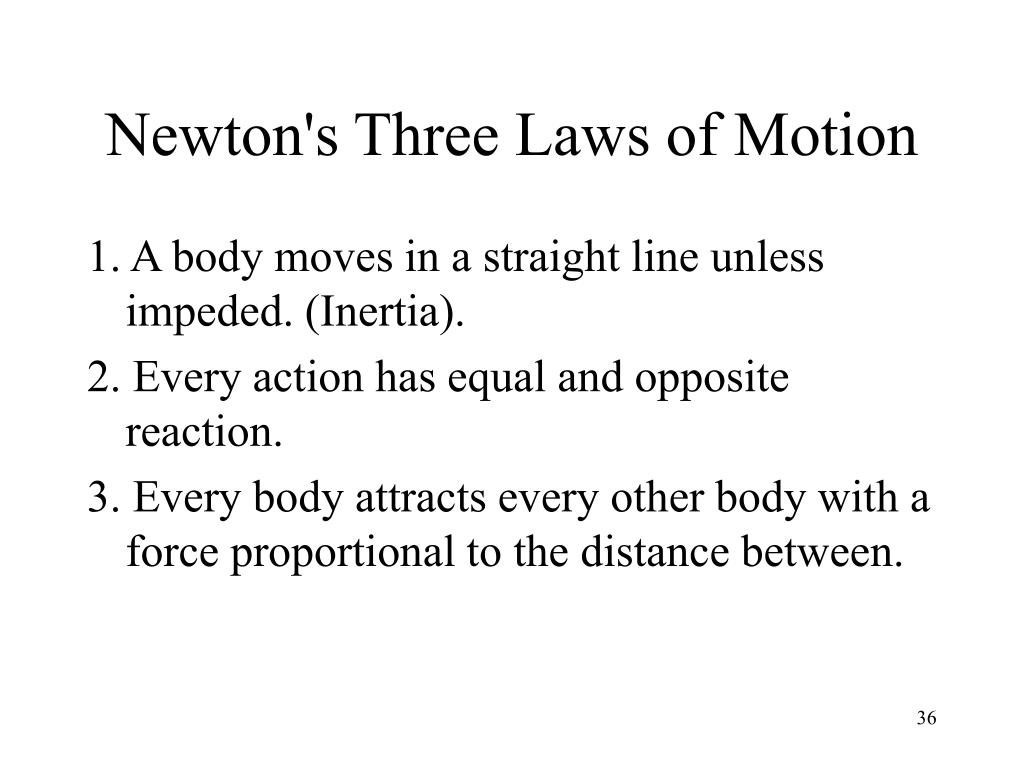 an analysis of newtons three laws of motion (section 131) the motion of a particle is governed by newton's three laws of  motion  proven and not the result of an analytical proof 2) mass (property of an .