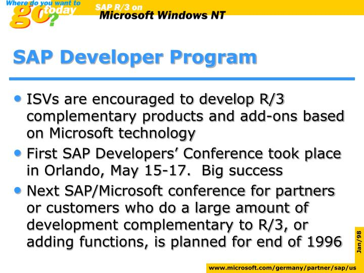SAP Developer Program