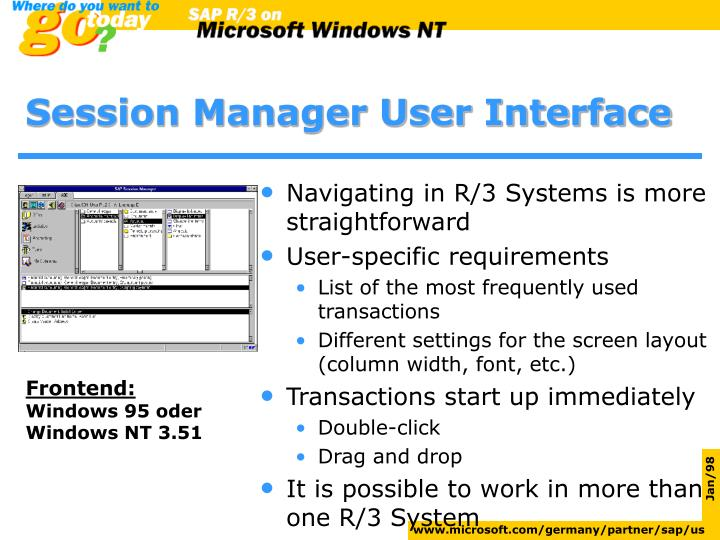 Session Manager User Interface