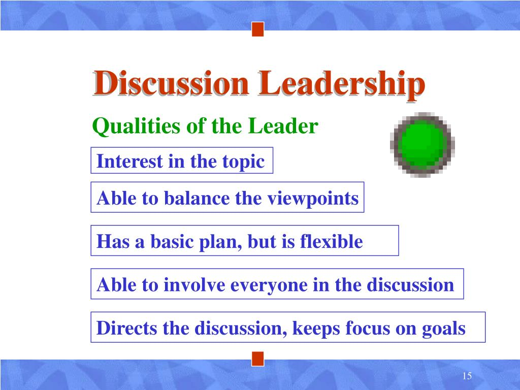 Discussion Leadership
