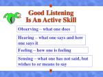 good listening is an active skill
